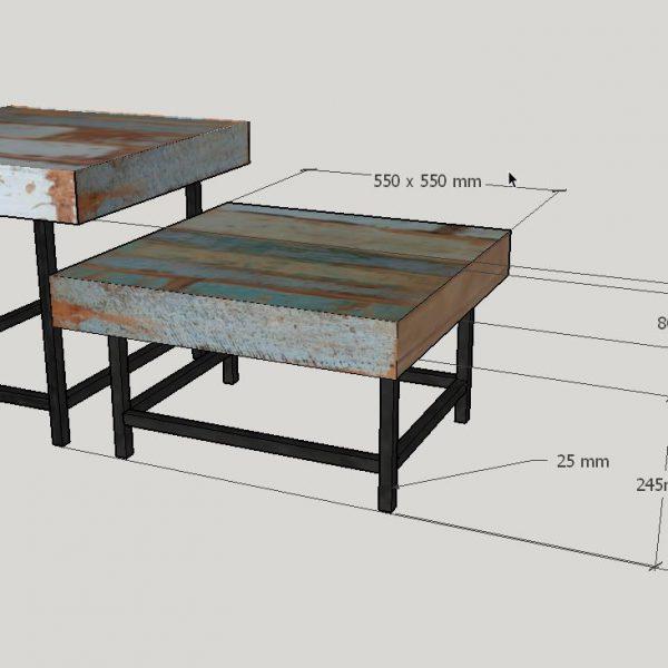 Table basse Mia - measurements