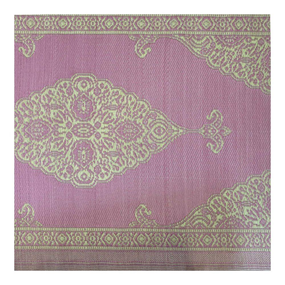 1-VI-PO-RU-alfombra-plastico-exterior-beige-crudo-magenta-rosa-dorado-hindu-India