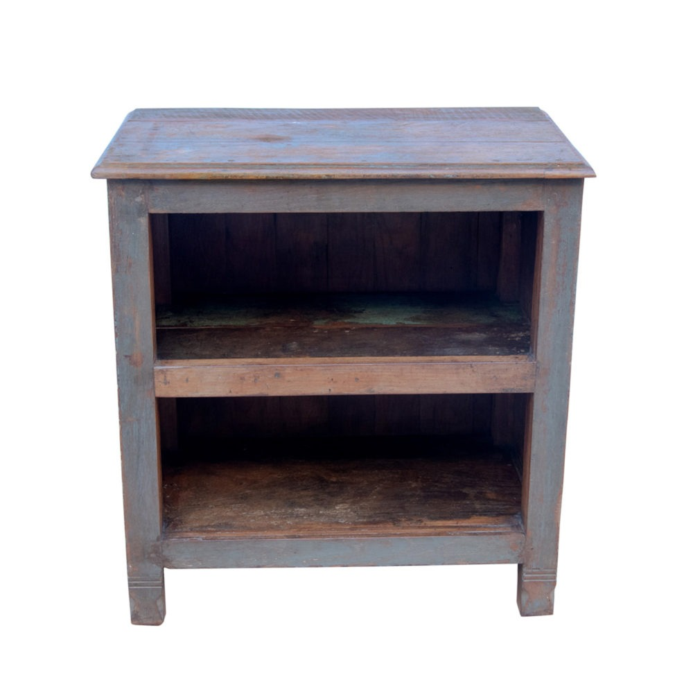 Aparador madera maciza y puertas acristaladas