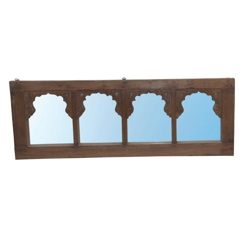 Espejo antiguo de 4 arcos mehrab